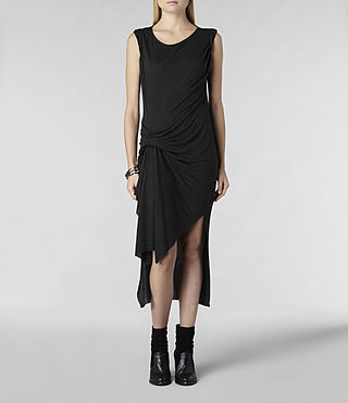 Womens Riviera Jersey Dress (Charcoal Marl) - product_image_alt_text_1