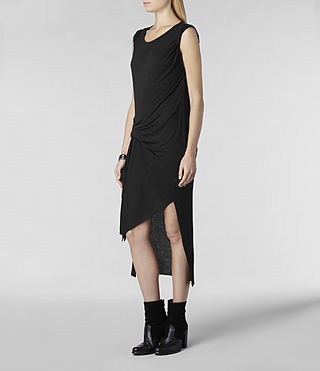 Womens Riviera Jersey Dress (Charcoal Marl) - product_image_alt_text_2