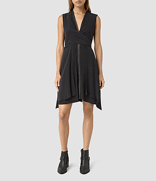 Womens Jayda Dress (Black) - product_image_alt_text_1