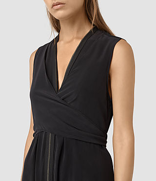 Mujer Jayda Dress (Black) - product_image_alt_text_2