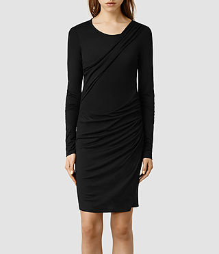 Womens Tundra Sleeve Dress (Black)