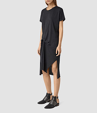 Women's T-Rivi Dress (DARK NAVY BLUE) - product_image_alt_text_3