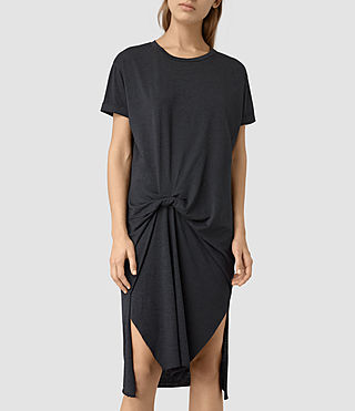 Women's T-Rivi Dress (DARK NAVY BLUE) - product_image_alt_text_4
