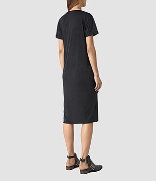 Women's T-Rivi Dress (DARK NAVY BLUE) - product_image_alt_text_5
