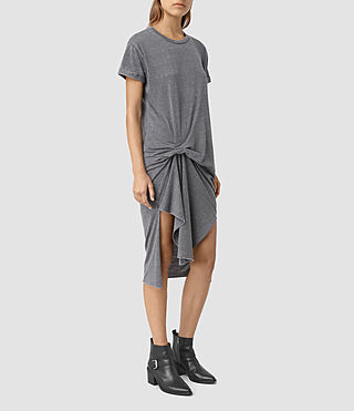 Damen T-Rivi Dress (COAL BLACK/ASH GRY)