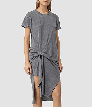 Damen T-Rivi Dress (COAL BLACK/ASH GRY) - product_image_alt_text_2