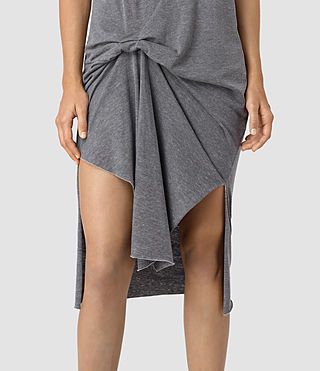 Damen T-Rivi Dress (COAL BLACK/ASH GRY) - product_image_alt_text_3