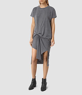 Damen T-Rivi Dress (COAL BLACK/ASH GRY) - product_image_alt_text_4