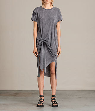 Women's T-rivi Dress (COAL GREY) -