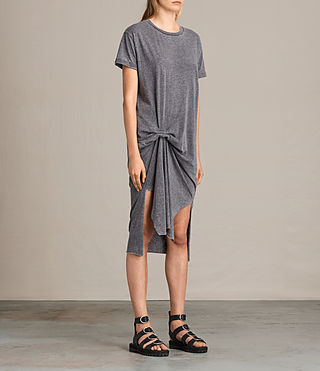 Women's T-rivi Dress (COAL GREY) - product_image_alt_text_2