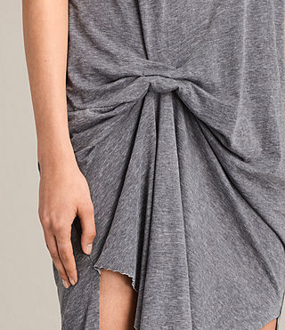 Women's T-rivi Dress (COAL GREY) - product_image_alt_text_4