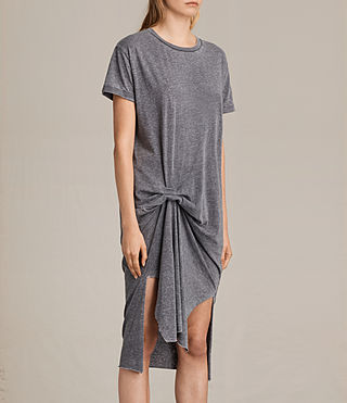 Women's T-rivi Dress (COAL GREY) - product_image_alt_text_5