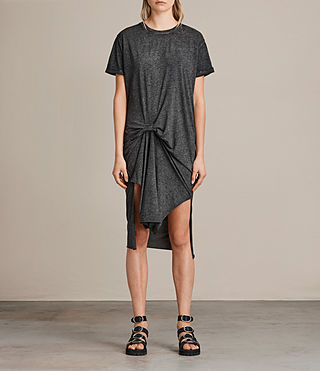 Womens T-Rivi Dress (ASH/BLACK) - Image 1