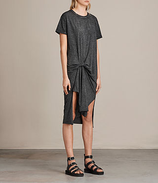 Womens T-Rivi Dress (ASH/BLACK) - Image 3