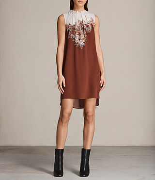 Damen Jay Clement Kleid (Rust) - Image 1