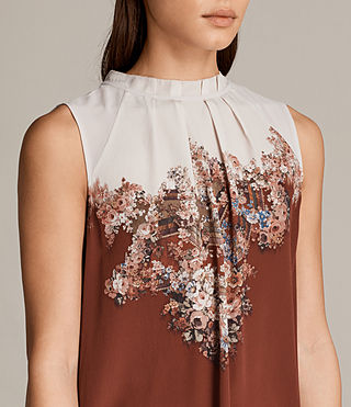Womens Jay Clement Dress (Rust) - Image 2