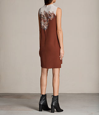 Womens Jay Clement Dress (Rust) - Image 7