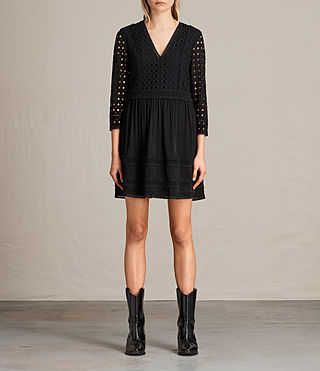 Womens Silo Lace Dress (Black) - product_image_alt_text_1
