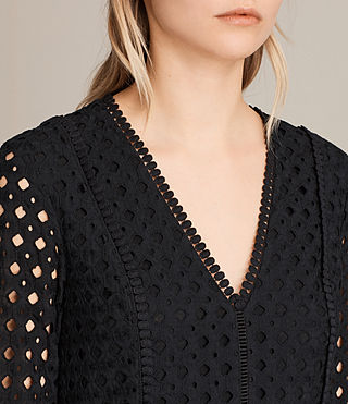 Womens Silo Lace Dress (Black) - product_image_alt_text_2
