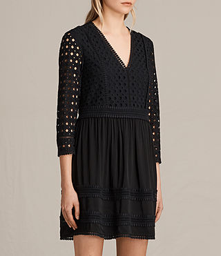 Womens Silo Lace Dress (Black) - product_image_alt_text_3