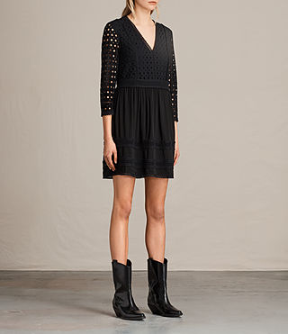 Womens Silo Lace Dress (Black) - product_image_alt_text_4