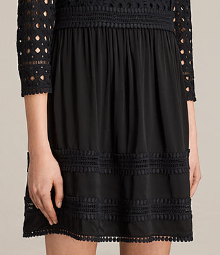 Womens Silo Lace Dress (Black) - product_image_alt_text_5