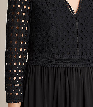 Womens Silo Lace Dress (Black) - product_image_alt_text_6