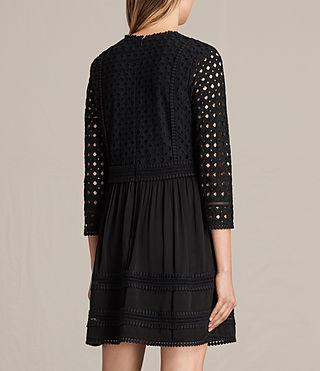 Womens Silo Lace Dress (Black) - product_image_alt_text_7