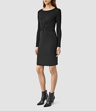 Women's Sian Dress (COAL BLACK)
