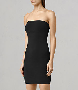 Women's Bri Slip Dress (Black) - product_image_alt_text_2
