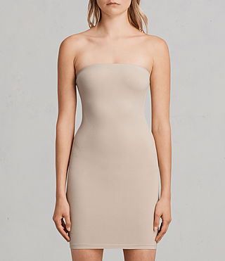 Damen Bri Slip Dress (Taupe)