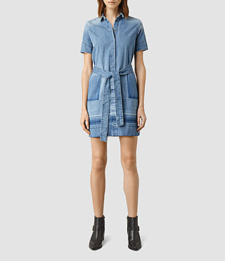 Womens June Denim Dress (Indigo Blue)