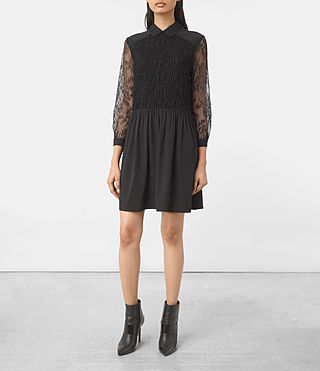Mujer Nia Dress (Black) - product_image_alt_text_1