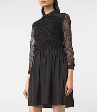 Womens Nia Dress (Black) - product_image_alt_text_3
