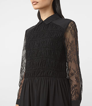 Womens Nia Dress (Black) - product_image_alt_text_4