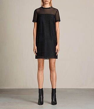 Womens Charlton Lace Dress (Black)