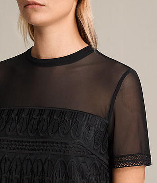Mujer Charlton Lace Dress (Black) - product_image_alt_text_2