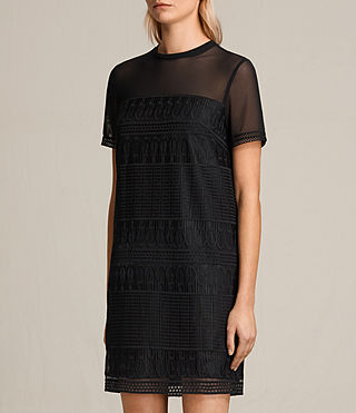 Mujer Charlton Lace Dress (Black) - product_image_alt_text_3
