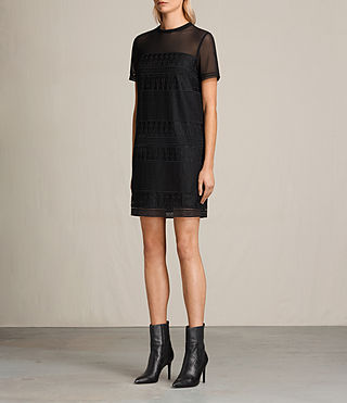 Mujer Charlton Lace Dress (Black) - product_image_alt_text_6