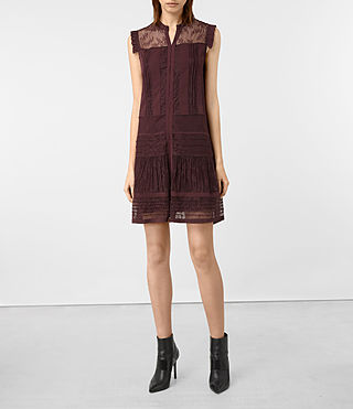 Damen Nia Jolene Dress (OXBLOOD RED)