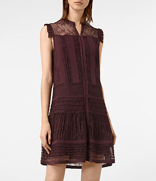 Mujer Nia Jolene Dress (OXBLOOD RED) - product_image_alt_text_2