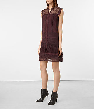 Mujer Nia Jolene Dress (OXBLOOD RED) - product_image_alt_text_3
