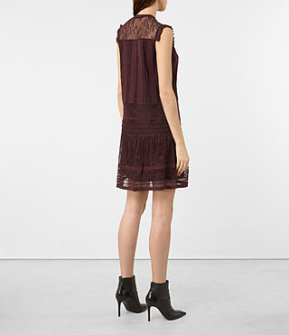 Mujer Nia Jolene Dress (OXBLOOD RED) - product_image_alt_text_5