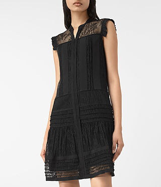 Womens Nia Jolene Dress (Black) - product_image_alt_text_2