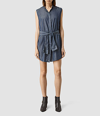 Womens Lana Dress (Indigo Blue)