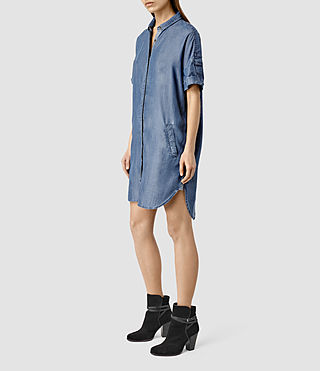 Womens Mel Dress / Light Indigo (LIGHT INDIGO BLUE) - product_image_alt_text_2