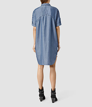 Womens Mel Dress / Light Indigo (LIGHT INDIGO BLUE) - product_image_alt_text_3