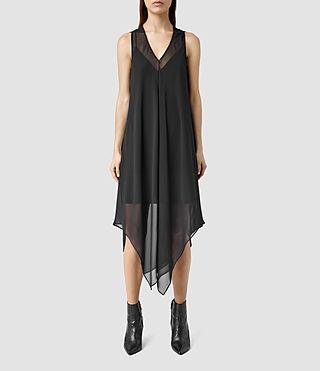 Womens Blaze Sheer Dress (Black/Black)
