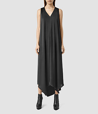 Womens Blaze Long Dress (Black)