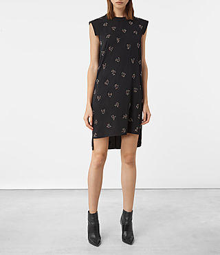 Womens Tonya Anouk Embellished Dress (Black)